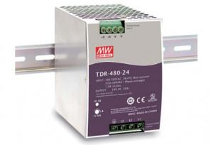 Sursa de alimentare MEAN WELL TDR-480-24, intrare trifazata sau monofazata, iesire 24V, 20A, 480W