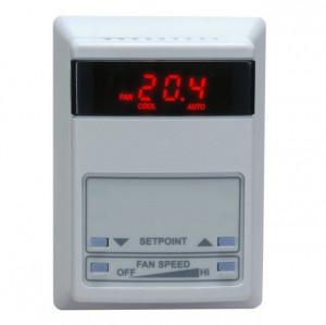 Termostat TEMCO CONTROLS TSTAT 5C, o intrare digitala si 2 intrari analogice, 5 iesiri in releu