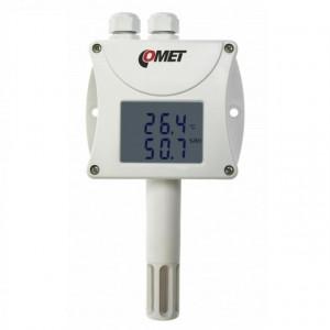 Traductor masurare temperatura si umiditate COMET T3411, protocol Modbus RTU, sonda inclusa, iesire RS485, afisaj local