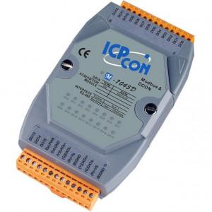 Modul I/O ICPDAS M-7045D-G, 16DO, indicator LED functionare, RS485, Modbus RTU