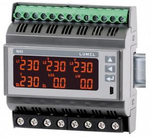 Analizor retea electrica LUMEL N43, iesire in releu si impuls OC, comunicatie RS-485