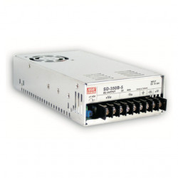 Convertor DC-DC MEAN WELL SD-350D-24, intrare 72 - 144VDC, iesire 24VDC, 14.6A, 350W