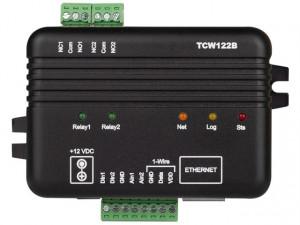 Modul I/O TERACOM TCW122B-RR, 2DI,2DO releu, Ethernet, web API