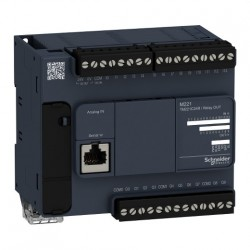 PLC SCHNEIDER ELECTRIC TM221C24R, 14DI/10DO, iesiri releu, port serial (RJ45), alimentare 100-240 VAC