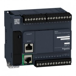 PLC SCHNEIDER ELECTRIC TM221CE24T, 14DI/10DO, iesiri tranzistor, Ethernet, port serial (RJ45), alimentare 24 VDC