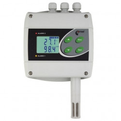Regulator de temperatura si umiditate COMET SYSTEM H3020, iesiri releu, interfata RS485, sonda 75 mm
