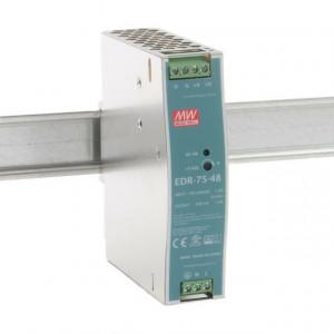 Sursa de alimentare MEAN WELL EDR-75-48, iesire 48V, 1.6A, 76.8W, montaj pe sina DIN