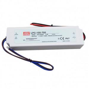 Sursa de alimentare MEAN WELL LPC-100-700, protectie IP67, iesire 72 - 143V DC, 0.7A, 100.1W