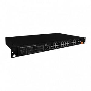 Switch industrial ICPDAS FSM-6228G-AC, 24 porturi Ethernet 10/100/1000Mbps, 4 porturi SFP, alimentare 220 AC