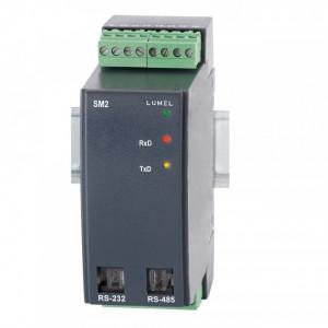 Traductor LUMEL SM2, 4 intrări sondă PT100 sau 400 Ohm, MODBUS RTU/ASCII, RS485/232, alimentare 85-253 VAC/DC