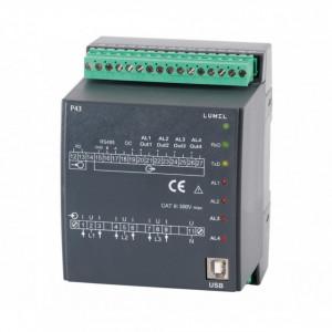 Traductor măsurare parametri rețea electrică trifazată LUMEL P43 221100E0, curent intrare 5A, ieșiri in releu, Modbus RTU, RS485
