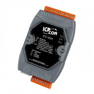 Modul I/O ICPDAS ET-7019, 8AI/4DO, Ethernet, Modbus TCP