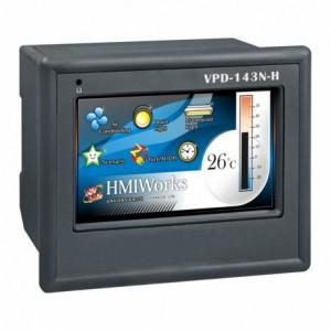 "PLC cu HMI ICPDAS VPD-143N-H, touch screen 4.3"", Ethernet, extensie I/O, RS485/RS232"