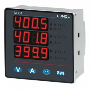 Analizor retea electrica LUMEL ND04, masurare parametri retele monozate si trifazate, iesire in releu, Modbus, interfata RS485
