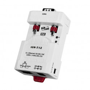 Convertor de protocol industrial ICPDAS TGW-712, Ethernet, RS-232, conversie Modbus TCP - RTU