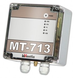 Data logger GSM INVENTIA MT-713, 3 intrari analogice, 5 intrari binare, 2 iesiri binare