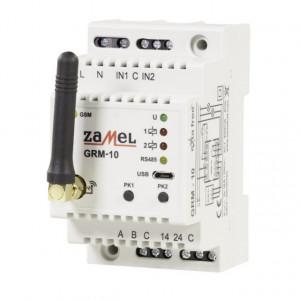 Modul I/O GSM ZAMEL GRM-10, 2 intrari digitale, 2 iesiri in releu, RS485