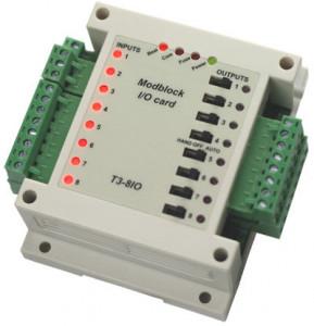 Modul I/O TEMCO CONTROLS T3-8AI8AO, 8 AI/8 AO, RS485, Modbus RTU