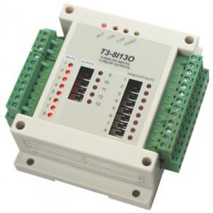 Modul I/O TEMCO CONTROLS T3-8I-13O, 8AI/13DO releu, RS485, Modbus RTU