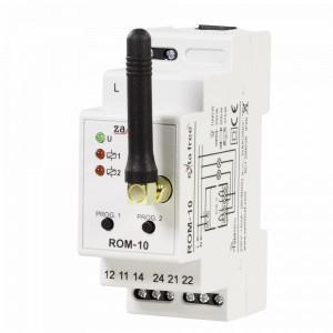 Modul receptor Wireless ZAMEL ROM-10, frecvență radio 868.32 MHz, 2 iesiri in releu NO/NC, montaj pe sina DIN