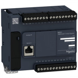 PLC SCHNEIDER ELECTRIC TM221C24T, 14DI/10DO, iesiri tranzistor, port serial (RJ45), alimentare 24 VDC
