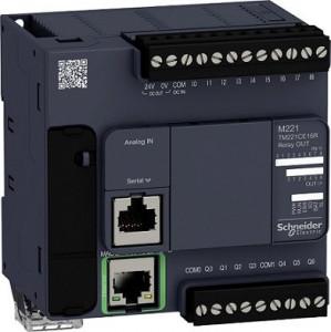 PLC SCHNEIDER ELECTRIC TM221CE16R, 9DI/7DO, iesiri releu, Ethernet, port serial (RJ45), alimentare 100-240 VAC