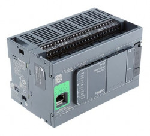 PLC SCHNEIDER ELECTRIC TM241CEC24R, 14DI/10DO, iesiri tranzistor si releu, CANopen, Ethernet, port serial (RJ45), alimentare 100 - 240 VAC