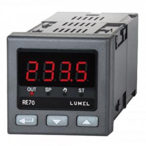 Regulator de temperatură LUMEL RE71, intrare sondă RTD sau TC, 1 ieșire în releu, alimentare 230 VAC