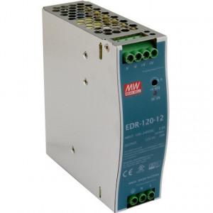 Sursa de alimentare MEAN WELL EDR-120-12, iesire 12V, 10A, 120W, montaj pe sina DIN