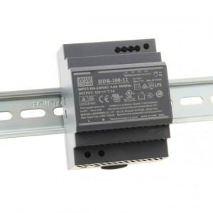 Sursa de alimentare MEAN WELL HDR-100-12, iesire 12V, 7.1A, 85.2W, montaj pe sina DIN