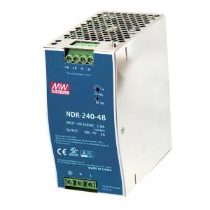 Sursa de alimentare MEAN WELL NDR-240-48, iesire 48V, 5A, 240W, montaj pe sina DIN