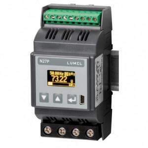 Traductor măsurare parametri rețea electrică monofazată LUMEL N27P 2100E0, curent intrare maxim 63A, 2 ieșiri în releu, Modbus RTU, RS485