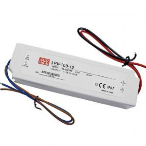 Sursa de alimentare MEAN WELL LPV-100-12, protectie IP67, iesire 12V, 8.5A, 102W