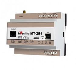 Gateway INVENTIA MT-251 SET, 2 intrari binare, 3G, Ethernet, RS232, RS485, Modbus TCP/RTU