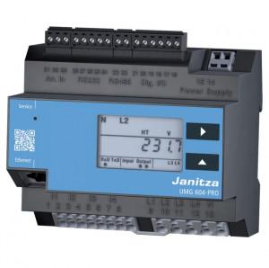 Analizor retea electrica JANITZA UMG 604 E PRO, masurare parametri retele monofazate si trifazate, cu functie de PLC si datalogger