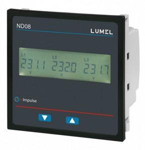 Analizor retea electrica LUMEL ND08, masurare parametri retele monozate, iesire in releu, Modbus, interfata RS485