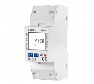Analizor rețea electrică LUMEL NR10, măsurare directă parametri rețele monozate, maxim 100A, MODBUS, cu 2 ieșiri în impuls, RS485