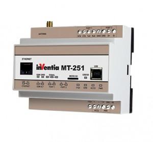 Gateway INVENTIA MT-251 SET, 2 intrari binare, 3G, Ethernet, RS232, RS485, Modbus TCP/RTU