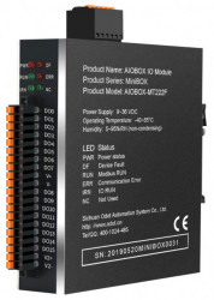 Modul I/O ODOT AIOBOX-MT222F, MODBUS RTU/ASCII/TCP, 16 DO, 1 port RS485, 2 porturi ETHERNET, indicator led pentru status funcționare
