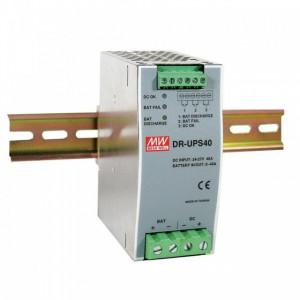 Modul UPS MEAN WELL DR-UPS40, iesire 24V, pana la 40A, cu modul de incarcare baterie