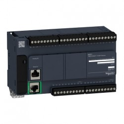 PLC SCHNEIDER ELECTRIC TM221CE40T, 24DI/16DO, iesiri tranzistor, Ethernet, port serial (RJ45), alimentare 24 VDC