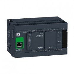 PLC SCHNEIDER ELECTRIC TM241CE24T, 14DI/10DO, iesiri tranzistor, Ethernet, port serial (RJ45), alimentare 24 VDC