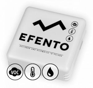 Senzor wireless de temperatură, umiditate, calitate aer interior, EFENTO BLE-THIAQ, Bluetooth, data logger memorie 60000 de înregistrări, alimentare cu baterii