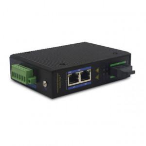 Switch Ethernet industrial ODOT AUTOMATION SYSTEM ES312FP-SC20, POE, 1 port optic 100Mbps, 2 porturi ethernet 100Mbps, conector SC, SM DX, 20KM, alimentare 48-57V DC