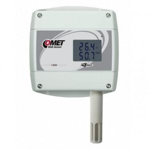 Traductor masurare temperatura si umiditate COMET T3610, protocol Modbus TCP, sonda inclusa, ETHERNET, PoE, afisaj local