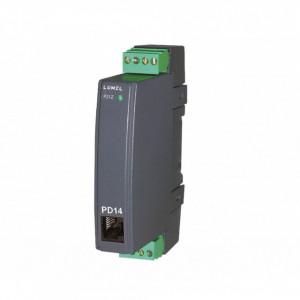 Traductor măsurare tensiune curent alternativ LUMEL P21Z 21100E0, intrare maxim 400VAC, interfață RS485, montaj pe șină