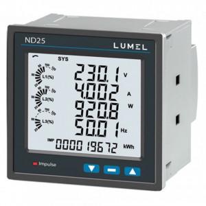 Analizor retea electrica LUMEL ND25, masurare parametri retele trifazate, MODBUS, RS485, 2 iesiri in impuls