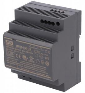 Sursa de alimentare MEAN WELL HDR-100-24, iesire 24V, 3.83A, 92.2W, montaj pe sina DIN