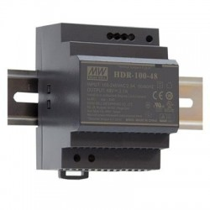 Sursa de alimentare MEAN WELL HDR-100-48, iesire 48V, 1.92A, 92.2W, montaj pe sina DIN