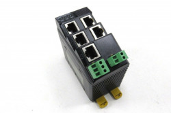 Switch Ethernet industrial OMRON W4S1-05C, 5 porturi Ethernet 10/100Mbps, failure detection
